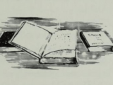 """""""Education is a Treasure,"""" A drawing from Negro American Heritage (1968), a textbook edited by Arna Bontemps. On Archive.Org."""