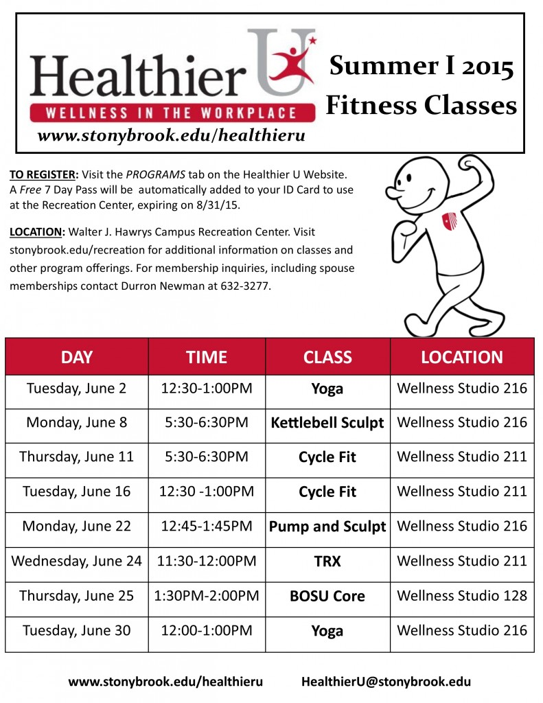 HU Summer I 2015 Fitness Classes