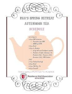 Spring Retreat Schedule