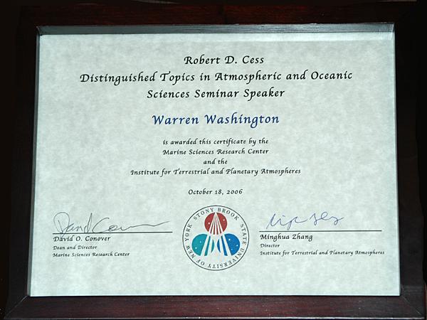 Robert D. Cess Distinguished TAOS Seminar