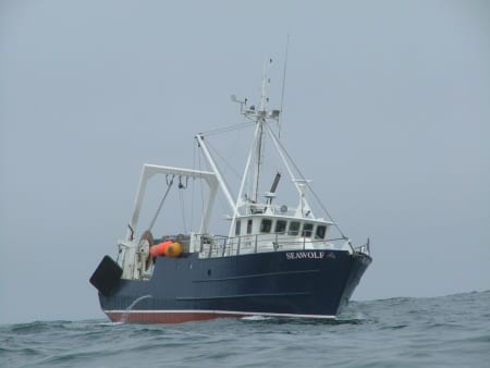 Photo of the Research Vessel Seawolf, a repurposed fishing boat now outfitted for oceanographic data collection
